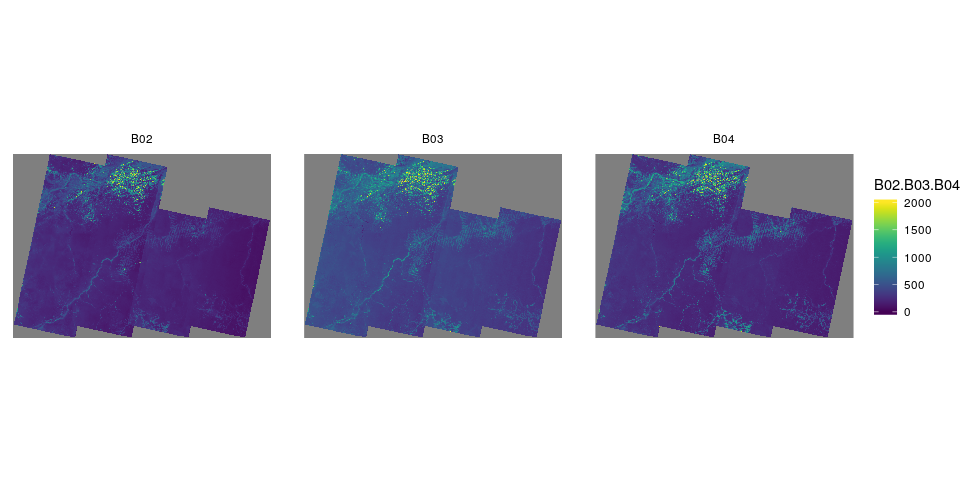 Processing satellite image collections in R with the