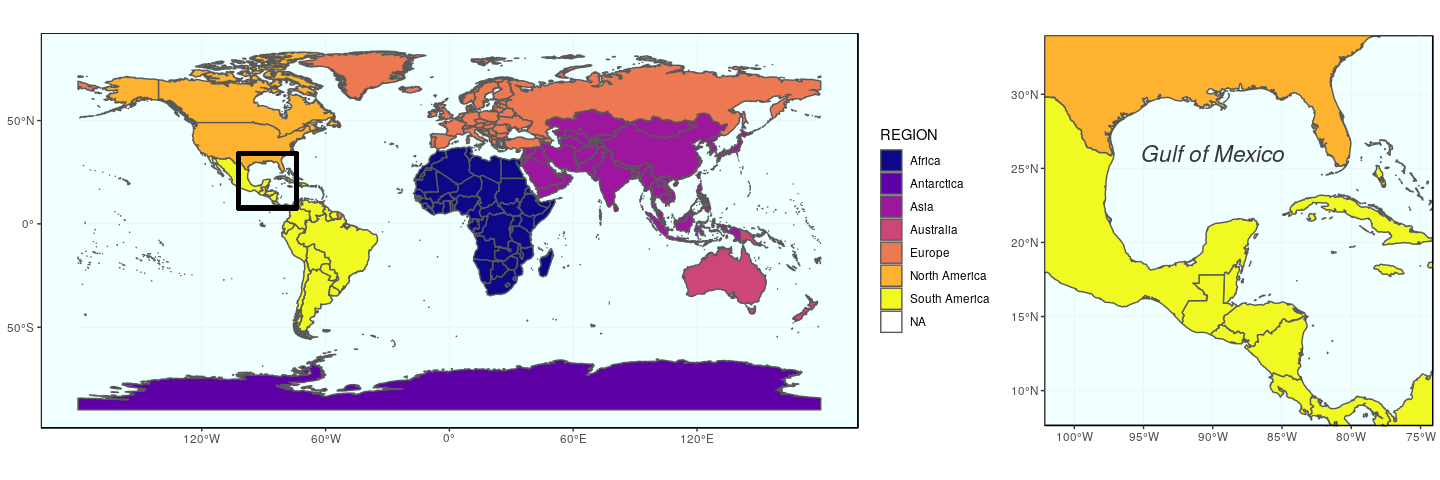 Drawing beautiful maps programmatically with R, sf and